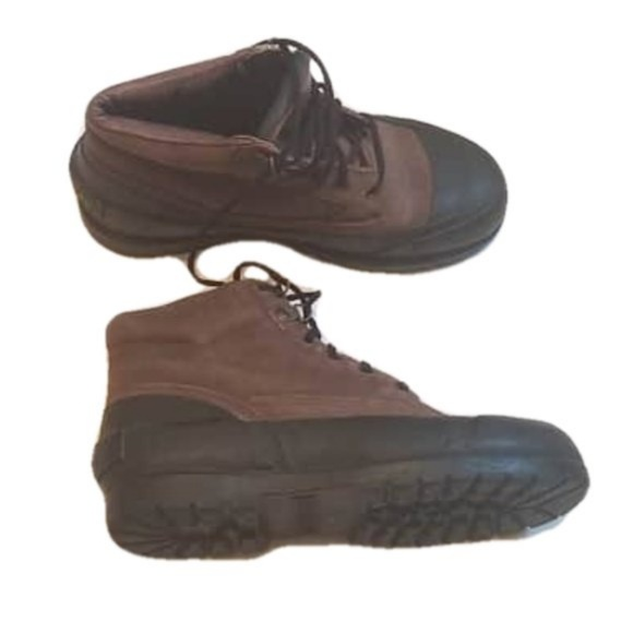 Sperry Rubber Leather Hiking Boots Mens